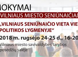 Prasideda registracija į Vilniaus miesto seniūnaičių mokymus