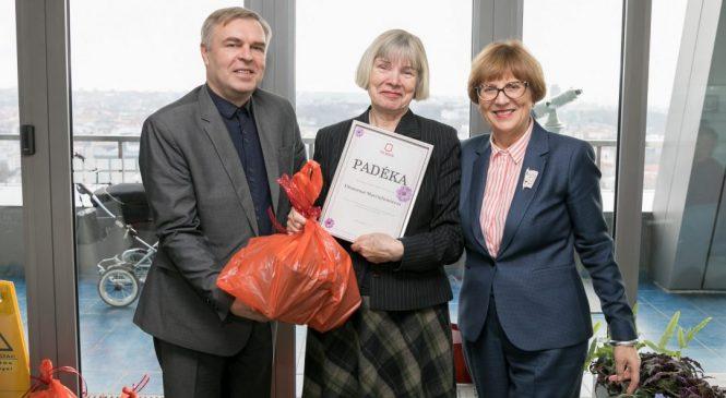 """Konkurso """"Žydintis Vilnius"""" 2018 laureatė Šeškinės aktyvi gyventoja"""