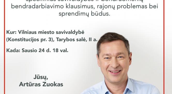 Kviečiame aptarti Vilniaus ateitį