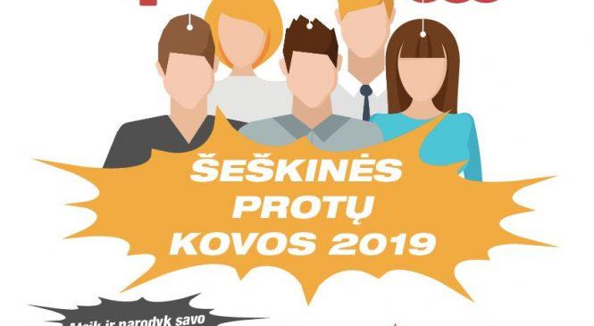 Šeškinės protų kovos 2019